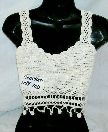 Fashion summer wear creamy sequin crochet top with dangle and top filgree  flower ties at neck fbbb45a48d613