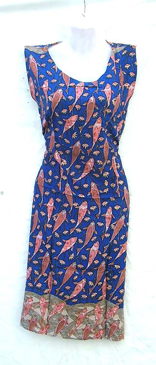 4f7e9856c27 Online Fish and Ocean design dresses wholesale - Hawaii summer rayon dress  with U shape neck and ...