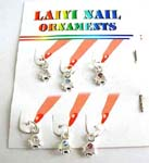 Sun shape nail ornaments with assorted cz inlaid