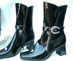 Winter lady's boots with variety design