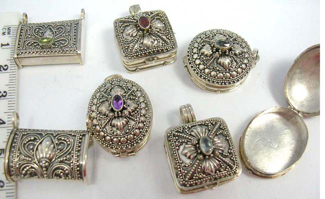 Discount sterling silver rings - Unique Gold Plated Locket Necklace