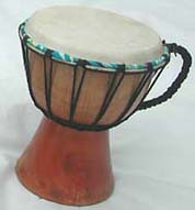 Wooden percussion instruments direct export from indonesia wholesale , djembe drums, gongs plain wooden djembe with sheep skin on surface