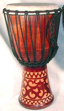 Original music instrument store wholesale African drum deep carving djembe with sheep skin on surface