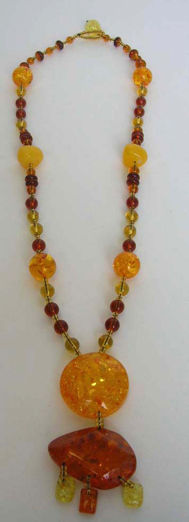 Fashion amber necklace with 2 amber holding mini amber ...