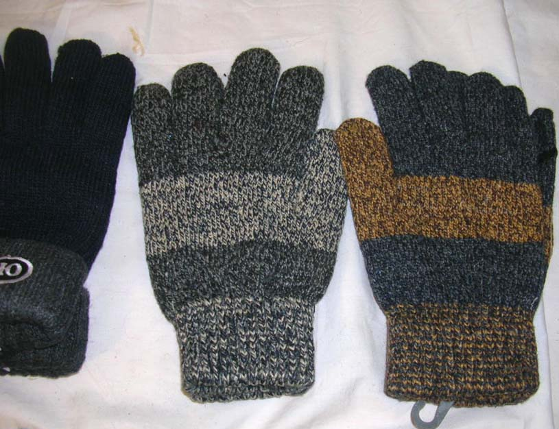 Mixed color ployester glove