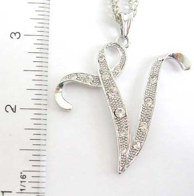 Diamond cubic zirconia bling bling initial charm pendant gift shop diamond cubic zirconia bling bling initial charm pendant gift shop alphabet letter necklace holding letter v aloadofball Image collections