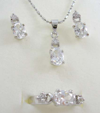 Diamond cz set fashion jewelry supply distribute oval for Handley rock jewelry supply vancouver wa