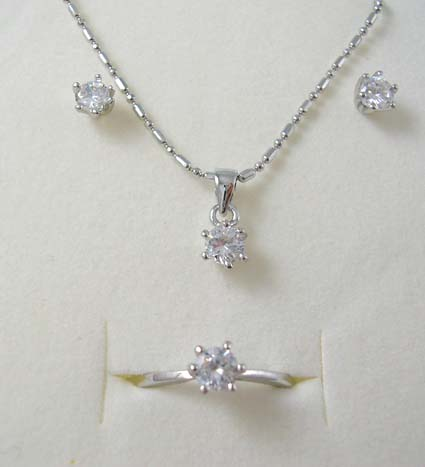 Wholesale bridesmaid wedding jewelry cz set supply silver for Handley rock jewelry supply vancouver wa