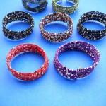 1beaded-wire-bangle ,Wholesale Glass Beads Bangle, wholesale bangle