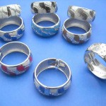 enamel-cz-wide-bangle, Canada charm beads bangle, wholesale watch bangle