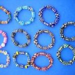 glass-lampwork-bead-bracelet, hippie glass beads, cheap fashion jewelry