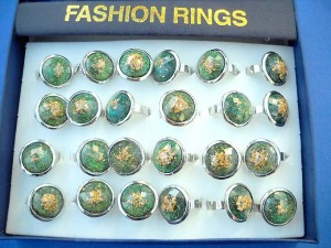 adjustable-rings-with-glass, italian glass rings, wholesale glass rings