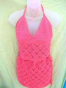 crocheted-top-skirt-set, crochet fashion, crochet handmade artwear
