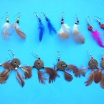 bali-feather-earring-mix, silver feather earrings, wholesale feather earrings