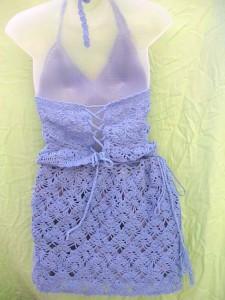 crocheted-top-skirt-set, crochet skirt pattern, crochet handmade artwear