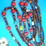 chucky-wood-beaded necklaces, SALE Wood Bead Necklace, Mens wood bead necklace