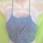 crochet-top-blue, wholesale crochet flowers, wholesale knitting