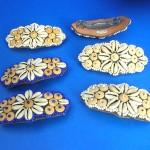 bali-beaded-shells-hair-clip, Rattan and sea shell hair clip distributor