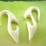 bone-earring, bone earrings spiral, wholesale organic jewelry importer