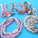 cotton-crinkle-tie dye-scarves, Tie Dye Scarves,Tie and Dye Scarf,Tie Dye Neck Scarves
