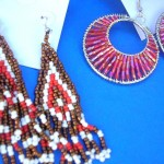beaded-earring, seed bead earrings, wholesale seed bead earrings