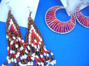 beaded-earring, seed bead earrings, wholesale seed bead earrings