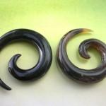 horn-earring, Green Bali Jewelry Indonesian exporter