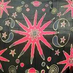 celestial-red-black sarong, celestial design sarees, wholesale closeouts