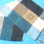 grid-fashion-scarves, wholesale stole or cashmere blanket
