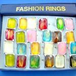 wholesale bulk adjustable-rings-with-glass, resin rings, non-metal costume rings