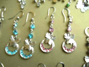 cz earrings in gold, discount wholesale