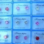 wholesale gauge earrings. Stylish cz gem stud earrings.