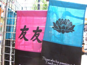 wholesale Affirmation Banner. Unique asian theme banner display decor.
