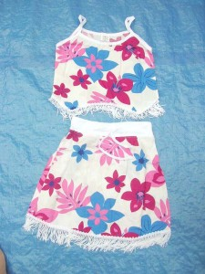 skirts dresses clothing wholesale. baby skirt top set with fringes