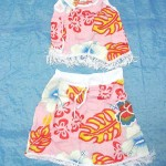 skirts dresses clothing wholesale. baby skirt top set with fringes, fits 1 to 2 years old.