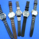 wholesale watches. Unisex fashion watches with faux leather wrist bands in trendy design.