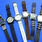 watch wholesaler. Unisex fashion watches with faux leather wrist bands in trendy design.
