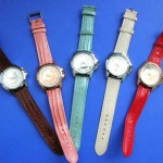 watch wholesalers. Ladies casual wear watch with colored band.