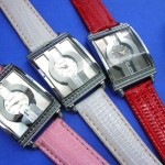 cheap wholesale watches. Stylish faux leather band on ladies large face watch.