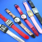 wholesale watch faces. Colorful band on casual accessory watch.