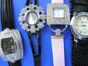 wholesale designer watches.Day wear unique design watch with cz gem stones.