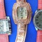 wholesale replica watches. Trend wear copper clock face frame with classic cz gemstones inlaid on ladies stylish watch.