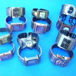 wholesale watch bangle. Ladies evening wear bangle bracelet fashion watch with trendy cz gems.