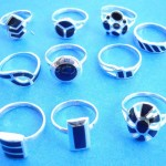 wholesale rings. Wedding choose, wholesale fashion black onyx sterling silver ring, randomly picked by our warehouse staffs.