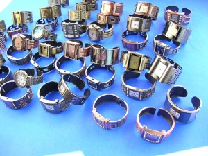 watches wholesaler. Crafted bronze copper bangle bracelet fashion watch with square clock face.