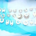 organics jewelry. assorted bone earrings, randomly picked by our staffs.