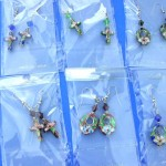 wholesale earrings. Chinese art cloisonne earrings with beautiful beads.