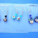 bali woenamel earringoden earrings earlets. Chinese art cloisonne earrings with beautiful beads.