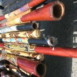 pictures of musical instruments. Handcrafted wooden Australian didgeridoo instrument.