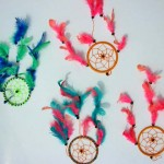 wholesale inspirational art and gift. Native art dream catcher with feather.